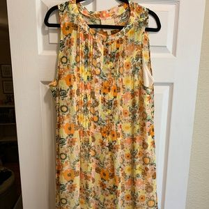 ModCloth Floral Print Chiffon Dress